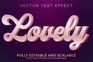 Print on Demand: Text Effect Lovely Pink Text Style Graphic Layer Styles By NA Creative