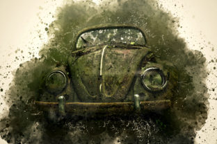 Print on Demand: Vintage Car Printables Pack 11 Grafik Illustrationen von The leaves river