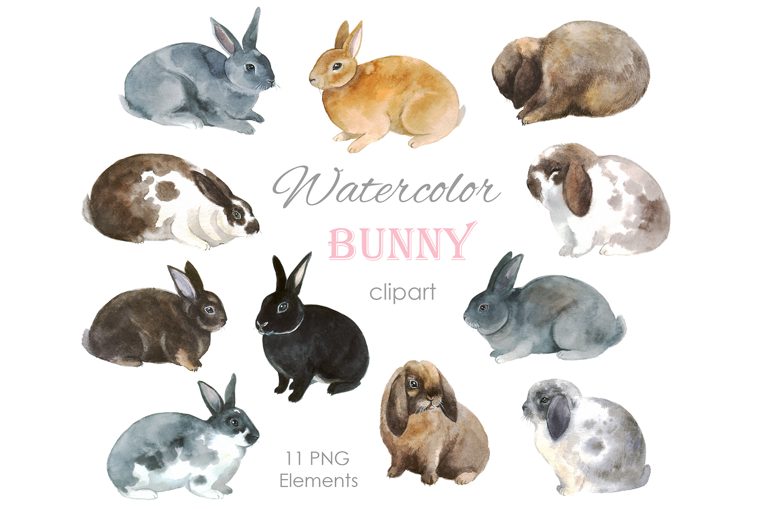 Watercolor Happy Easter Clipart,Easter Bunny Clip Art,Rabbit,Cute chicks,Easter Eggs,Spring Holiday,Nursery,Baby Shower,Easter basket,29 PNG