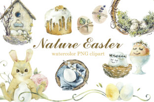 Watercolor Nature Easter Graphic Objects By Мария Кутузова
