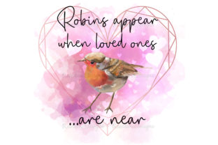 Print on Demand: Watercolour Robin Frame Loved Ones Graphic Print Templates By RainbowDesigns