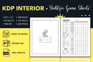 Print on Demand: Yahtzee Score Sheets - KDP Interior Graphic KDP Interiors By KDP King