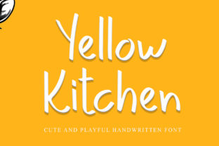 Print on Demand: Yellow Kitchen Display Font By giartstudios