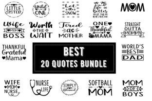 Print on Demand: Best  20 Quotes Bundle Graphic Print Templates By Design_store