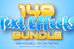 Print on Demand: 149 Text Effects Bundle  By Mustafa Bekşen