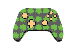 Shamrock Video Game Controller Saint Patrick's Day Craft Cut File By Creative Fabrica Crafts