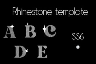 Rhinestone Template Letters a to E Ss6 Rhinestones Craft Cut File By Creative Fabrica Crafts