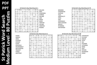 80 St Patrick Word Search Puzzles Medium Grafik KPD Innenseiten von Oxyp