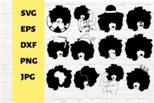 Afro African Beauty Black Woman Graphic Crafts By svgstudiofiles