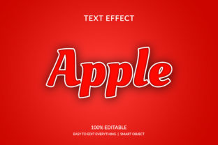 Print on Demand: Apple Fruit Color 3d Style Text Effect Graphic Layer Styles By grgroup03