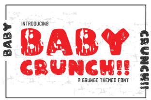 Print on Demand: Baby Crunch!! Display Font By KtwoP
