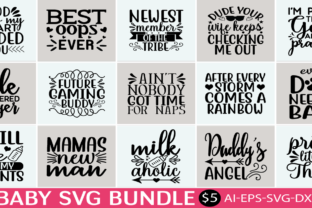 Print on Demand: Baby SVG Bundle  By BDB_Graphics