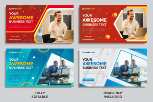 Banner Template Different Color & Size Graphic Landing Page Templates By Miraz28