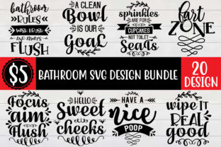 Bathroom SVG Design Bundle  By Craft Store