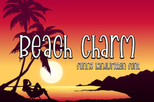 Print on Demand: Beach Charm Display Font By Supersemar Letter