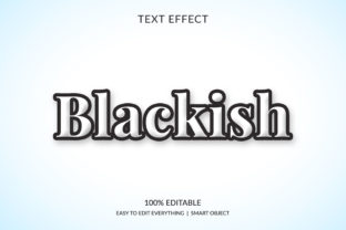 Blackish 3d Black White Text Effect Graphic Layer Styles By grgroup03
