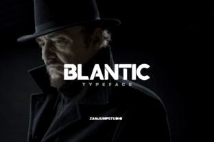 Print on Demand: Blantic Display Font By zamjump