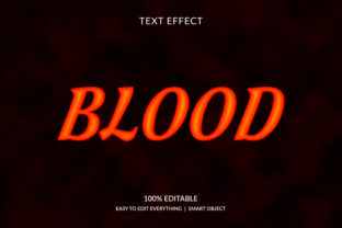 Blood 3d Red Color Text Effect Graphic Layer Styles By grgroup03