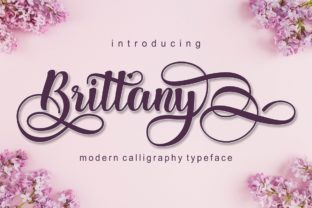 Print on Demand: Brittany Script & Handwritten Font By pujalettering