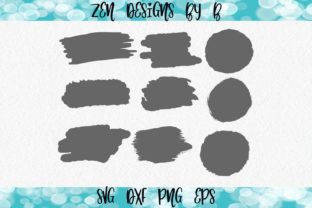 Brush Strokes Graphic Illustrations By ZenDesignsByB