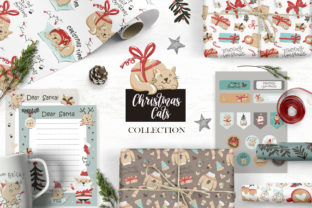 Christmas Cats Collection Graphic Illustrations By Nafanya