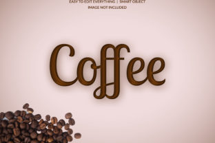 Print on Demand: Coffee Real Color Style 3d Text Effect Graphic Layer Styles By grgroup03