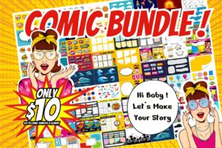 Print on Demand: Comic Template Bundle  By edywiyonopp