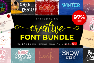 Print on Demand: Creative Font Bundle  By arukidz.fl