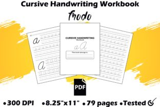 Cursive Handwriting Workbook Graphic KDP Interiors By Frodo