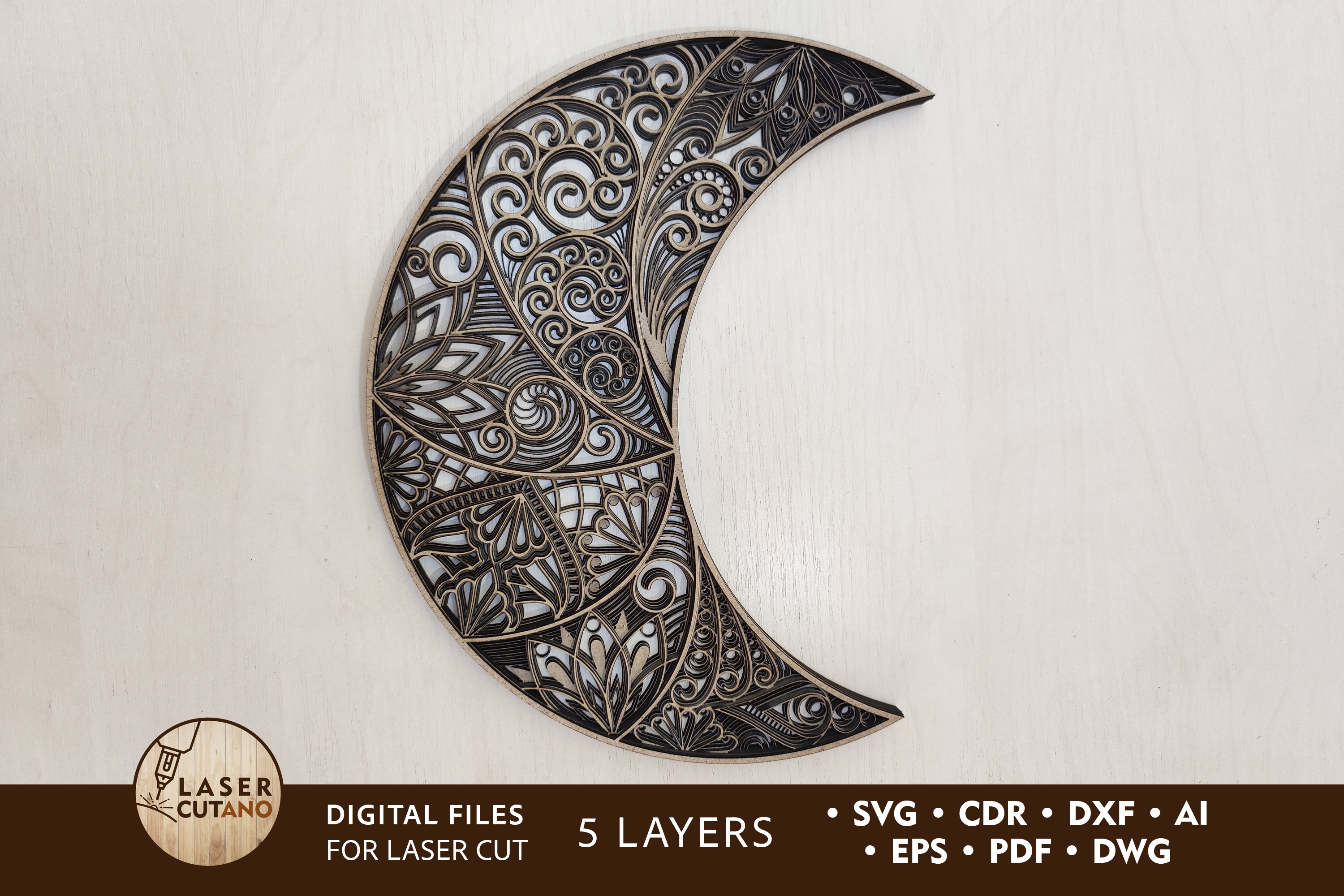 Cut Files - the Moon SVG File
