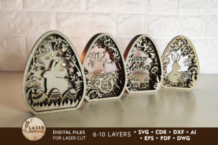 Easter Cut Files Graphic Crafts By LaserCutano
