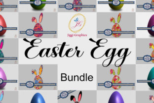 Easter Egg Bundle  By Jiggi Graphics