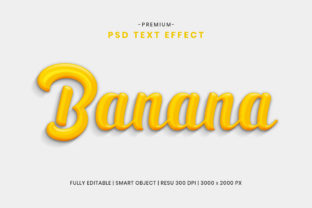 Editable Banana 3D Text Effect Template Graphic Graphic Templates By Effectmaster