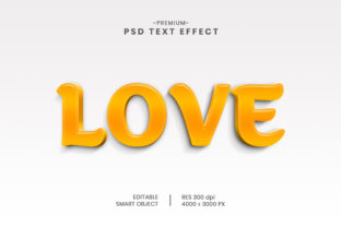 Editable Love 3D Text Effect Template Graphic Graphic Templates By Effectmaster
