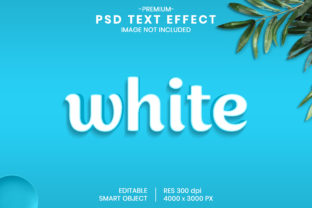 Editable White 3D Text Effect Template