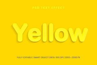 Editable Yellow 3D Text Effect Template Graphic Graphic Templates By Effectmaster