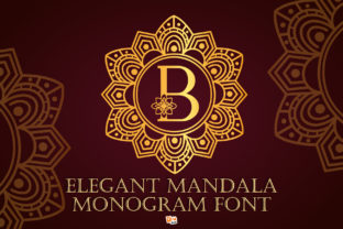 Print on Demand: Elegant Mandala Monogram Decorative Font By dmletter31