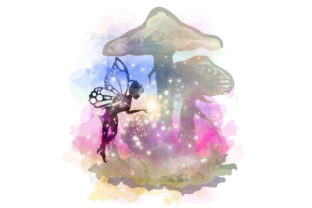 Print on Demand: Fairy & Toadstool Watercolour Graphic Print Templates By RainbowDesigns