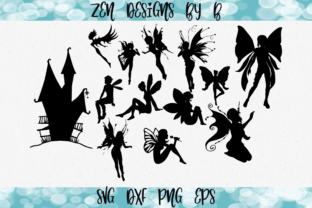 Fairy and Fairy House Bundle Graphic Crafts By ZenDesignsByB