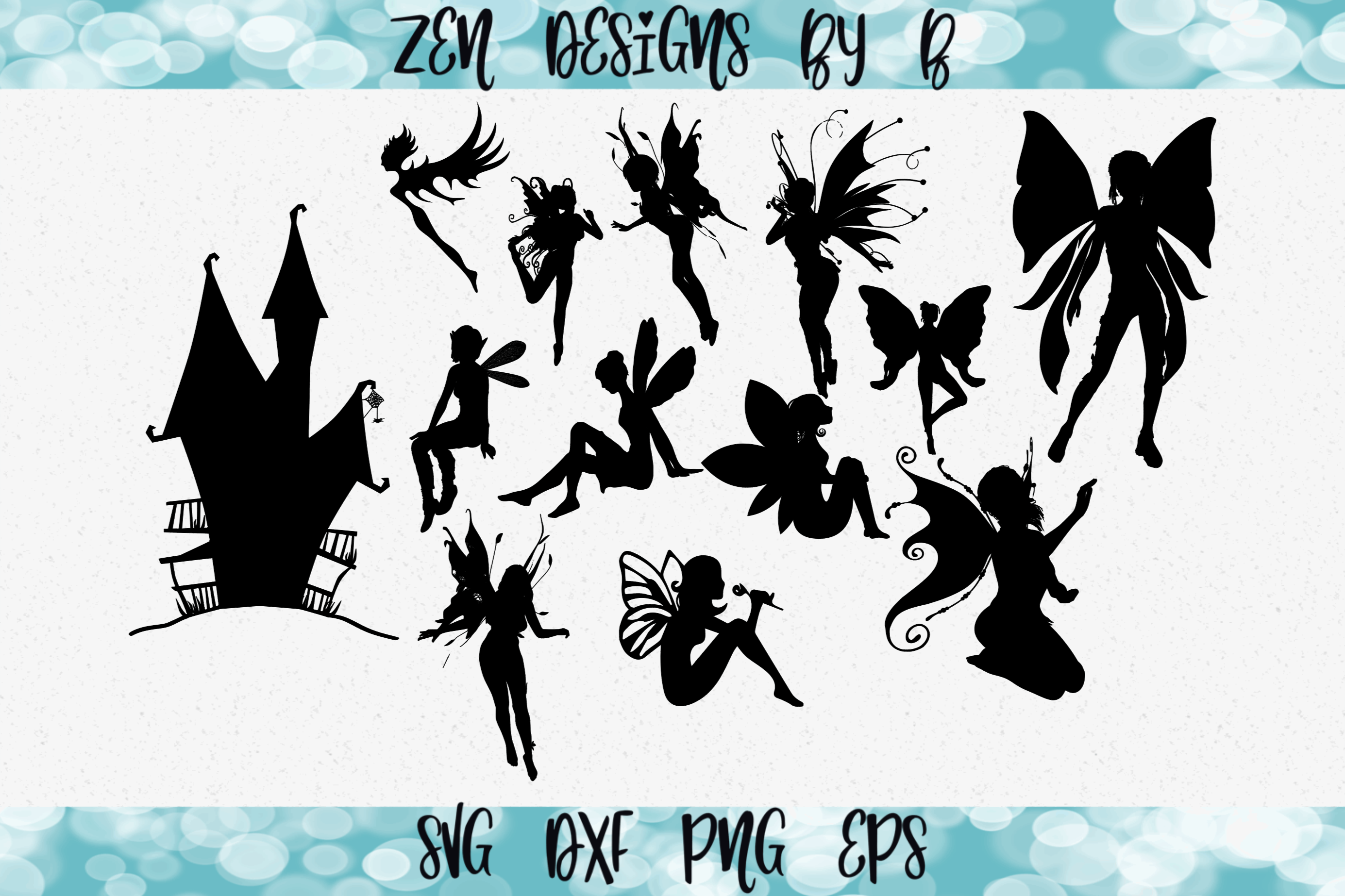 Fairy and Fairy House Bundle SVG File