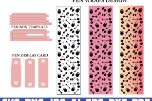 Fitness Glitter Pen Wraps, Gym Women Graphic Graphic Templates By dodo2000mn1993