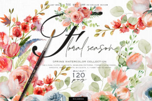 Floral Season Collection Graphic Illustrations By HappyWatercolorShop