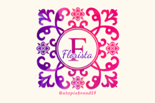 Print on Demand: Florista Monogram Decorative Font By utopiabrand19