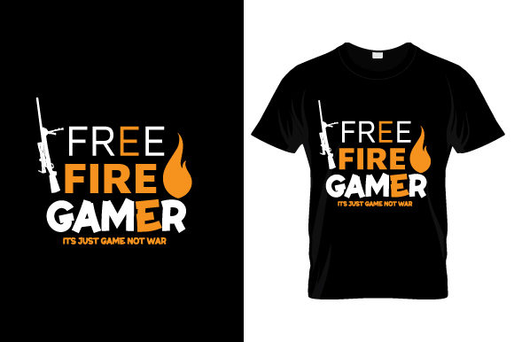 Free Fire Gamer Graphic Print Templates By ietypoofficial