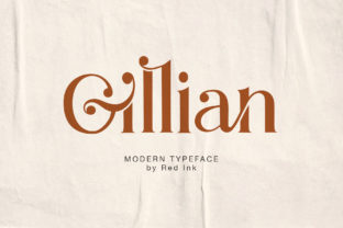 Print on Demand: Gillian Serif Font By Red Ink
