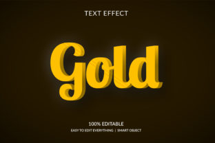 Gold 3d Golden Color Style Text Effect Graphic Layer Styles By grgroup03