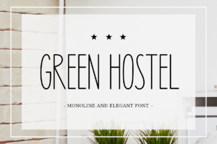 Print on Demand: Green Hostel Sans Serif Font By AV Type