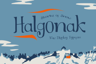 Print on Demand: Halgonak Display Font By Jetsmax Studio