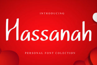 Print on Demand: Hassanah Display Font By dazzlinggleam