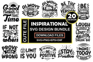 Inspirational SVG Design Bundle  By Crafthill260
